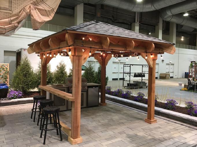 Western red cedar pergolas - Chicago flower and garden show 2017 ...