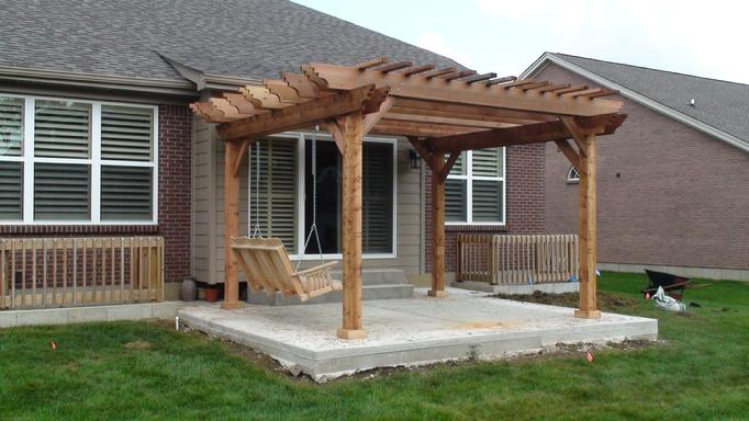 PDF DIY Free Standing Pergola Plans Download plans for outdoor bench ...