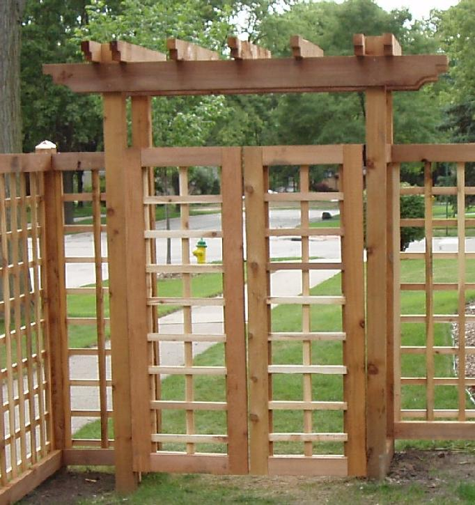 Gate on pinterest arbors arbor gate and gates for Gate arbor plans